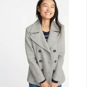 Brand New Old Navy Gray Pea Coat